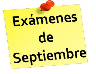 Exámenes de septiembre 2020